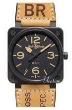 Bell & Ross Aviation Svart/L�der 46x46 mm
