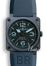 Bell & Ross Aviation Bl�/Gummi 42x42 mm