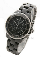 Chanel J12 Chronograph Ceramic Black Dial
