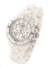 Chanel J12 Chronograph Ceramic White Dial