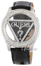 Guess Clearly Svart/Läder Ø42 mm