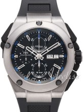 IWC Ingenieur Double Chronograph Svart/Gummi �45 mm