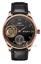 IWC Portuguese Tourbillon Black Dial Rose Gold