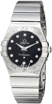 Omega Constellation Polished 27 mm Steel Black Dial