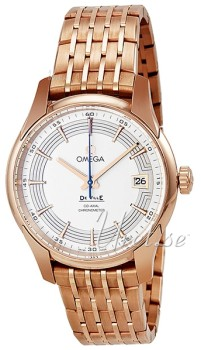 Omega De Ville Hour Vision Silver Dial Rose Gold