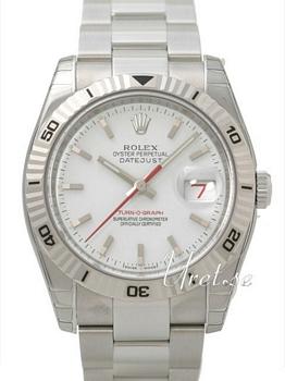 Rolex Datejust Turn-O-Graph White Dial Oysterlock Bracelet