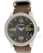 Nixon The Corporal Svart/Läder Ø48.00 mm