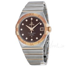 Omega Constellation Brown Dial Rose Gold/Steel Bracelet