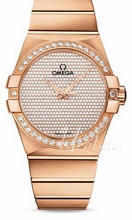 Omega Constellation Brown Dial Rose Gold Bracelet