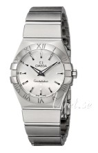 Omega Constellation Brushed 24 mm Steel Silver Dial