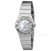 Omega Constellation Brushed 24 mm Steel MOP Dial