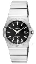 Omega Constellation Steel Black Dial Bracelet