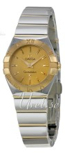 Omega Constellation Polished 24 mm Yellow Gold Steel Champagne D