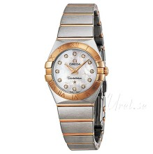 Omega Constellation Brushed 24 mm Rose Gold Steel MOP Dial