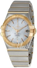 Omega Constellation Rose Gold Steel Silver Dial Bracelet