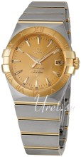 Omega Constellation Yellow Gold Steel Champagne Dial Bracelet