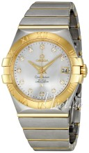 Omega Constellation Yellow Gold Steel Silver Dial Bracelet