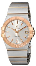 Omega Constellation Rose Gold Silver Dial Bracelet