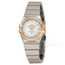 Omega Constellation Polished 24 mm Rose Gold Steel MOP Dial
