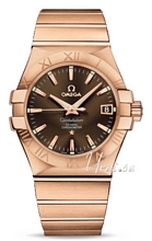 Omega Constellation Rose Gold Brown Dial Bracelet