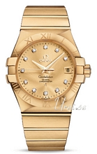 Omega Constellation Yellow Gold Champagne Dial Bracelet