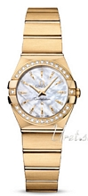 Omega Constellation Brushed 24 mm Yellow Gold MOP Dial