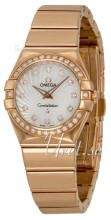 Omega Constellation Polished 24 mm Rose Gold MOP Dial