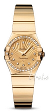 Omega Constellation Polished 24 mm Yellow Gold Champagne Dial