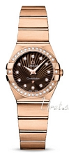 Omega Constellation Brushed 24 mm Rose Gold Brown Dial