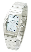 Omega Constellation Quadralla Mop Off Colored Index Steel Ladies