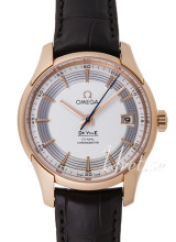 Omega De Ville Hour Vision Silver Dial Rose Gold Leather