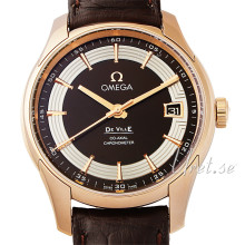 Omega De Ville Hour Vision Brown Dial Rose Gold Leather