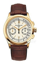 Patek Philippe Complicated Silver Dial Croco Strap