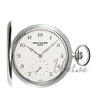 Patek Philippe Hunter Pocket Watch Silver Dial White Gold