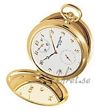 Patek Philippe Hunter Pocket Watch Silver Dial Yellow Gold