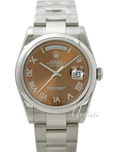 Rolex Day-Date Brown Dial White Gold Oyster Bracelet