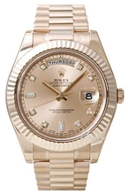 Rolex Day-Date II Rose Gold Rose Dial