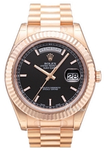 Rolex Day-Date II Rose Gold Black Dial