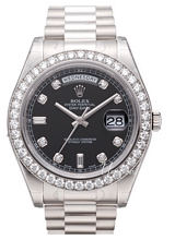 Rolex Day-Date II White Gold Black Dial