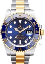 Rolex Submariner Blue Dial Gold/Steel Ceramic Bezel