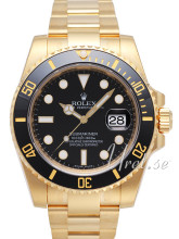 Rolex Submariner Yellow Gold Black Dial Ceramic Bezel