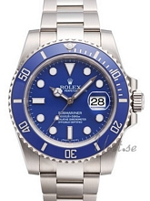 Rolex Submariner Blue Dial White Gold Bracelet