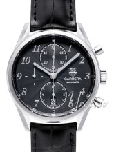 TAG Heuer Carrera Heritage Chronograph Black Dial Leather